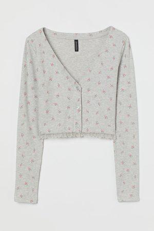 H&M Gerippter Jersey-Cardigan