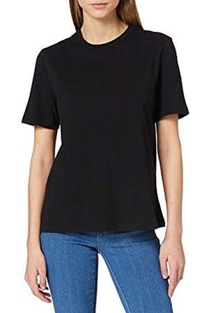 YAS Damen SARITA O-Neck Tee - NOOS S. T-Shirt, Black