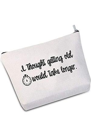 JXGZSO I Thought Getting Old Would Take Longer Pouches mit lustigen Sprüchen Reißverschluss-Tasche Lustige Tasche Reisetasche Geschenk