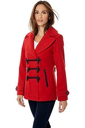 Bonamaison Damen Millitaire Buttoned Cropped Coat T Shirt