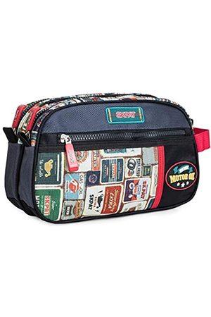 Skpat Reise-Toilettentasche, Bedruckte Polyester-Toilettentasche. Mit seitlichem Handgriff und Trolley-Befestigungsband. Bequem