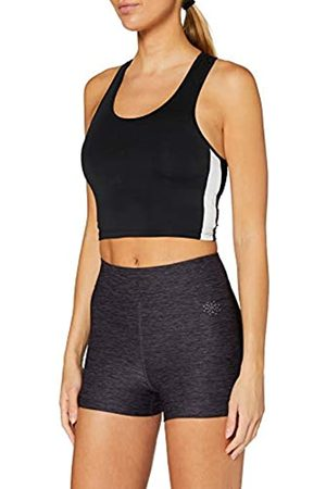 AURIQUE Amazon-Marke: Damen Sportshorts mit Seitenstreifen, Lila (Nightshade Marl), 38