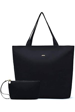 ETidy Faltbare Tragetasche mit Reißverschluss, extra große Kapazität, für Damen, Strandtasche, Turnbeutel
