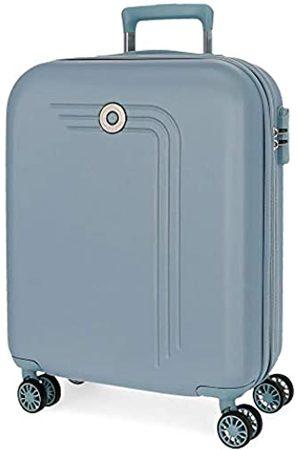 MOVOM Riga Kabinenkoffer Blau 40x55x20 cms Hartschalen ABS Kombinationsschloss 37L 3Kgs 4 Doppelräder Erweiterbar Handgepäck