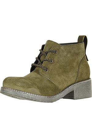 Naot Women's Love Oily Olive Suede/Vintage Pine Leather 38 M EU