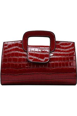 ZLM BAG US ZLMBAGUS Damen Vintage Flap Tote Top Handle Satchel Handtaschen PU Leder Clutch Geldbörse Schultertasche, (X-red)