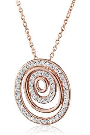 Pasionista Damen-Collier 925 Silber rosévergoldet rhodiniert Kristall weiß Brillantschliff 42 cm - 640259