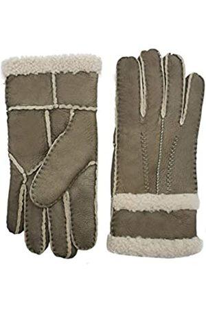 YISEVEN Damen Shearling Lederhandschuhe mit Gefüttert Winter Lammfell Leder Autofahrer Handschuhe Geschenk L