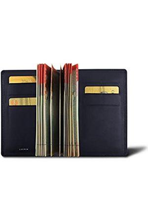 Lucrin Protège passeport Luxe - Bleu Marine - Cuir Lisse