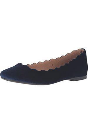 ATHENA Damen Ballerinas Toffy, Blau (Marineblauer Samt)
