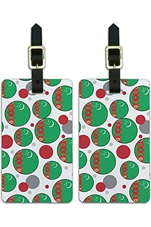 Graphics and More Graphics & More T-z-Turkmenistan Nationalflagge - Luggage.Tags.09746