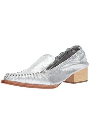 RACHEL COMEY Women's Sinclair Slip-On Loafer, Silver Kidskin Leather