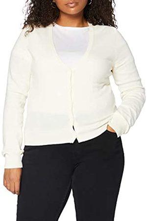 MERAKI Amazon-Marke: Baumwoll-Strickjacke Damen mit V-Ausschnitt (Ivory), 38