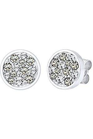 Elli Ohrringe Damen Kreis mit Kristalle in 925 Sterling