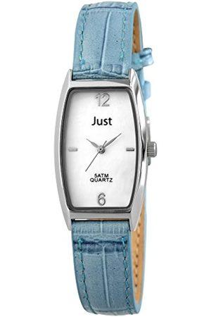 Just Watches Damen-Armbanduhr Analog Quarz Leder 48-S10420-WH-BL