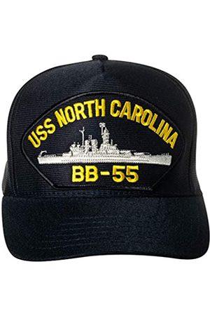 Artisan Owl United States Navy USS North Carolina BB-55 Battleship Emblem Patch Hat Navy Blue Baseball Cap