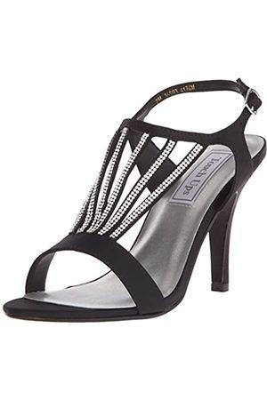 Touch Ups Damen Carmen Kleid Sandale, (Black Satin)