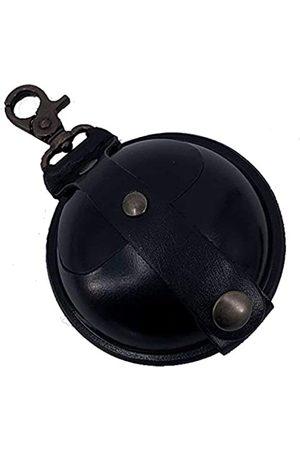 Mika 28063901 - Schlüsselanhänger groß aus Echt Leder/Sattelleder, Mini Geldbörse als Schlüsseletui mit Münzfach mit Druckknopf, Schlüsselbörse für Kleingeld in