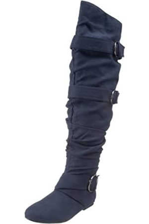 Not Rated Damen Single D Kniehohe Stiefel, (Navy)
