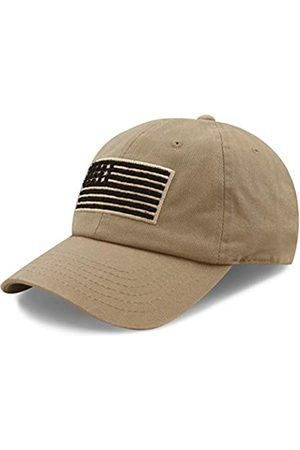 The Hat Depot Tactical Operator USA Flag Low Profile Baseball Army Military Cap - Beige - Einheitsgröße