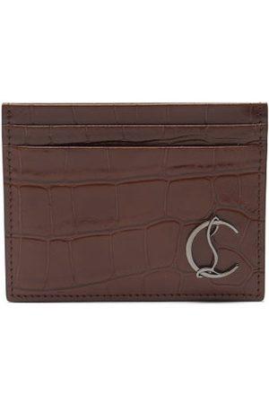 Christian Louboutin Kios Croc-effect Leather Cardholder