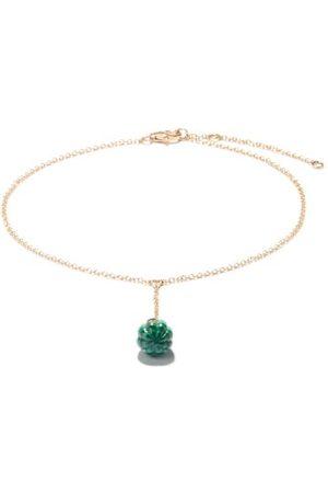 Yvonne Léon Diamond, Malachite & 9kt Ankle Bracelet