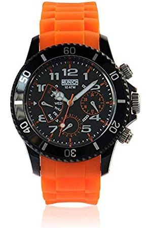 Munich Unisex Erwachsene Analog Quarz Uhr mit Silikon Armband MU+119.5A