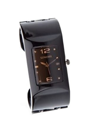 Sinobi Damen-Armbanduhr XS Analog Quarz Edelstahl beschichtet 9181/N