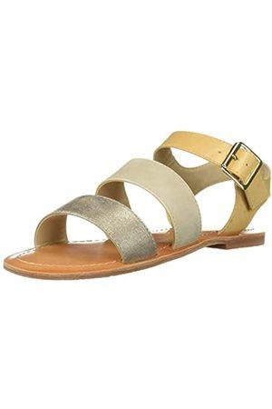 BC Footwear Damen Picturesque Flache Sandale, Naturfarben/Mehrfarbig