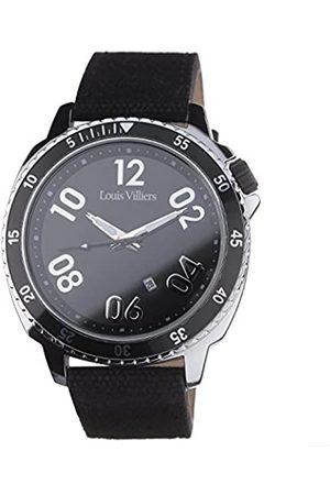Louis Villiers Unisex Analog Quarz Uhr mit Leder Armband LV1047