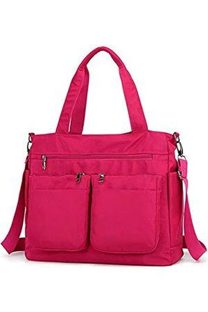 AIRUI Crossbody-Taschen für Frauen, Nylon-Geldbörse mit mehreren Taschen, große Schultertaschen, Handtaschen für Reisen, Arbeit und den täglichen Gebrauch, (rosarot)