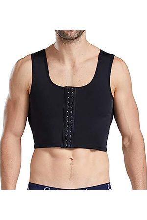 NonEcho Fajas para Hombres Schlankheits-Korsett Korsett Kompressionsshirts Gewichtsverlust Verstecken Gynäkomastie Brust Weste - - Mittel