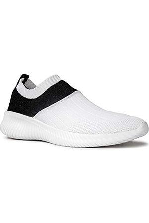 Qupid Triad Sneakers | Tennisschuhe für Damen | Wanderschuhe Damen, Weiá (Weißer Fliegenstrick.)