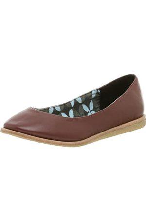 BC Footwear Damen-Ballerinas, homöopathisch, flach, Rot (burgunderfarben)