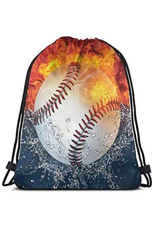 Cameksi Rucksack mit Kordelzug, Baseball, leicht, für Sport, Wandern, Yoga, Reisen, Strand, Tagesrucksack, tragbar