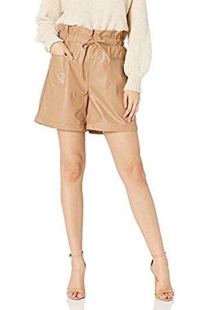 KENDALL + KYLIE Damen Paperbag-Shorts aus veganem Leder