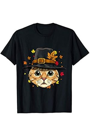 Wowsome! Thanksgiving Cat Pilgrim Costume Men Women T-Shirt