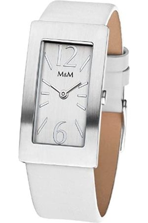 M&M Damen-Armbanduhr Basic Square M11840-723