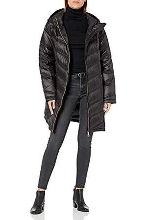 Calvin Klein Damen Daunenjacke mit Kapuze, Chevron, gesteppt