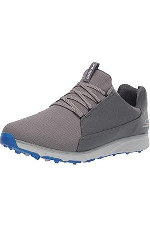 Skechers Men's GO Mojo Waterproof Golf Shoe, Charcoal/Blue Textile