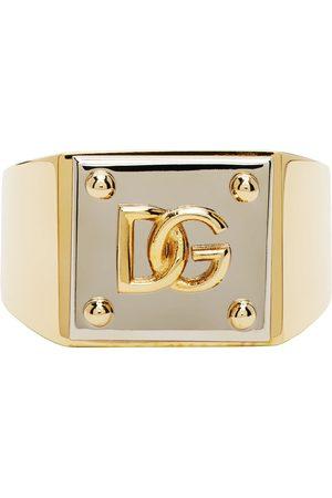 Dolce & Gabbana Herren Ringe - Gold & Silver Logo Ring
