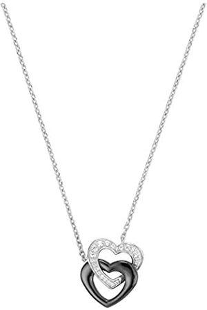 Ceranity Damen-Halskette Sterling-Silber 925 Keramik Zirkonia 45 cm 1-72/0005-N
