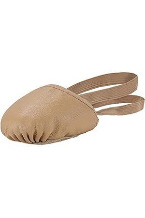 Linodes Leder Pirouette Halbsohle Jazz Ballett Tanzschuh Turning Schuhe für Damen und Mädchen, (hautfarben)