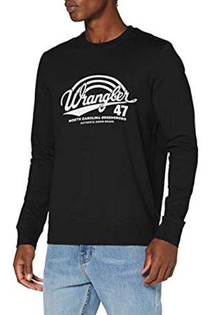 Wrangler Herren Logo Crew Sweatshirt