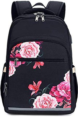 BLUBOON Laptop-Rucksack für Damen, 39,6 cm (15,6 Zoll), mit USB-Anschluss