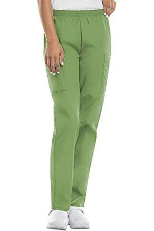 Cherokee Damen Cargohosen - Damen-Cargo-Peelinghose mit elastischer Taille - Grün - X-Small Zierlich