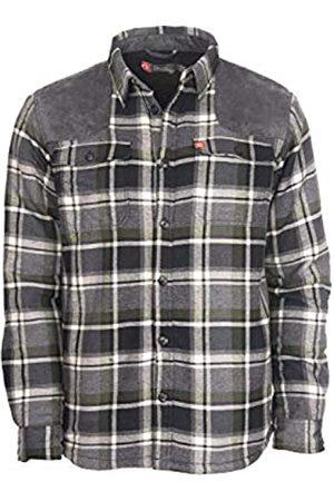 American Outdoorsman Sherpa gefütterte Hemdjacke für Herren mit Wildleder Schulter (XL
