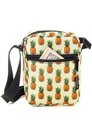 Fydelity Umhängetasche für Festivals, kleine Brusttasche, Gelb (Ananas)