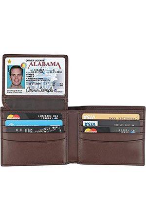 Lavemi RFID-blockierende Geldbörse aus Rindsleder für Herren mit 2 ID-Fenstern - - Einheitsgröße