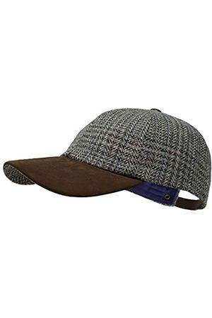 Borges & Scott Die Sligo - Baseball Cap - 100% Wolle - Irish Tweed - Schirm aus Nubuk Leder